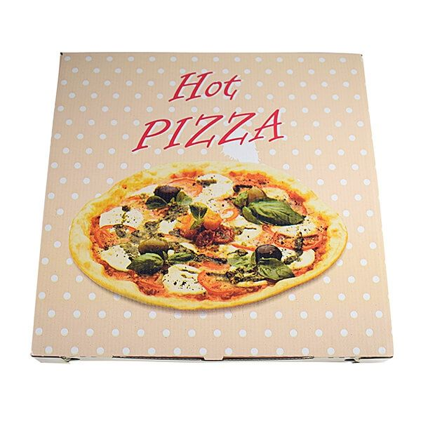 "Pizzakarton ""Hot Pizza"", 330 x 330 x 30 mm, 100 Stk/Pkg"