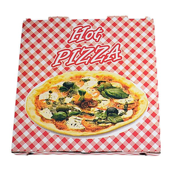 "Pizzakarton ""Hot Pizza"", 295 x 295 x 30 mm, 100 Stk/Pkg"
